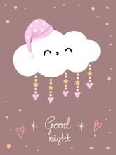 Sleeping Cloud In Hightcap Beige Poster