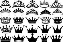 Crown SVG Cut Files | Royal Crown SVG | King Crown Svg | Queen Crown Silhouette Bundle
