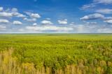 Fototapeta Na ścianę - Bory Dolnośląskie widziane z dużej wysokości, Zdjęcie z drona.
