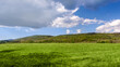 canvas print picture - Idyllic rural view of beautiful farmland in the beautiful surroundings of the Iron Mountains