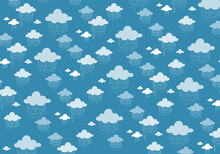 Pattern Background With Rainy Cloud