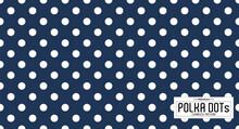 Dots Pattern Vector. Polka Dot Background. Blue Seamlles Polka Dots Abstract Background. Dot Pattern Print. Panorama View. Vector Illustration