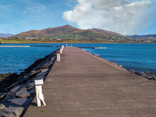 Knightstown Harbour With A View To Iveragh Peninsula Mountains
