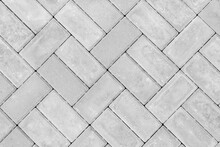 Gray Paving Slabs Urban Street Road Floor Stone Tile Texture Background, Top View