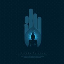 Abstract Illustration Of Buddha Purnima Background.