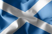 3D Illustration Flag Of Scotland Is A Region Of United Kingdom