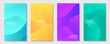 Set of banners design template. Abstract colorful wavy liquid composition style for business, event and social media promotion. Vector