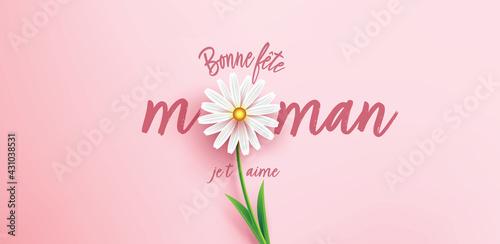 Fototapeta  Bonne fête maman - Illustration Bannière vecteur obraz