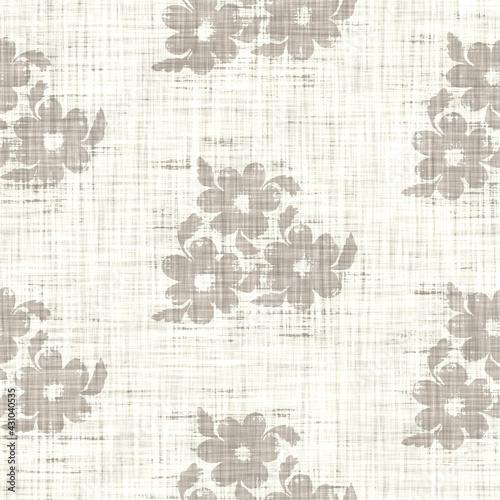 Tapety Francuskie  bezszwowe-francuski-taupe-kwiatowy-wiejski-lniane-tlo-drukowane-tkaniny-jasny-cetkowany-szary-wzor-shabby-chic-tkany-efekt-tkaniny-w-2-odcieniach-tekstylny-rustykalny-ekologiczny-ecru-nadruk-na-calej-powierzchni