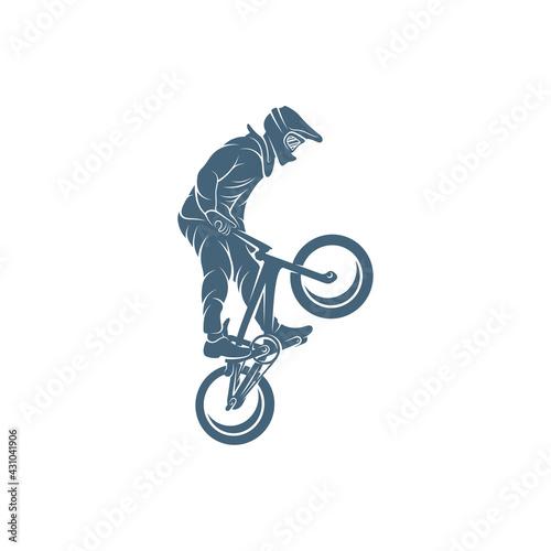 BMX design vector illustration, Creative BMX logo design concept template, symbo Fototapeta
