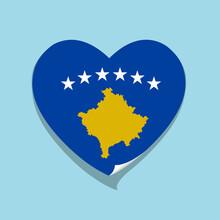 I Love Kosovo Flag Heart