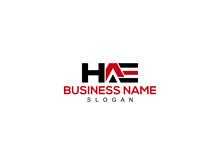 HAE Logo Letter Vector For Brand