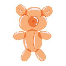 Orange Bear Balloon