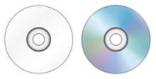 CDの表面と裏面イメージイラスト(記録媒体)