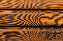 Vintage Wood Texture With Knots. Closeup Topview.