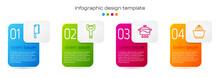 Set Line Meat Chopper, Vegetable Peeler, Cooking Pot And Citrus Fruit Juicer. Business Infographic Template. Vector