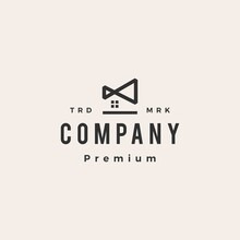 Infinity House Home Mortgage Hipster Vintage Logo Vector Icon Illustration