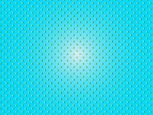 水色背景に浮かぶドット柄の抽象イメージ