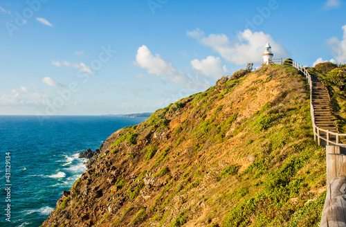 Foto Morning view of Byron Bay Lighthouse, the most eastern mainland of Australia, New South Wales, Australia