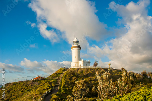 Fotografiet Morning view of Byron Bay Lighthouse, the most eastern mainland of Australia, New South Wales, Australia