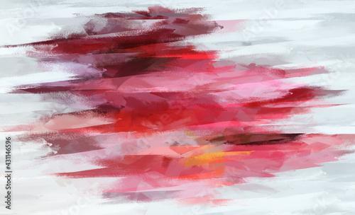 Slika na platnu Digital illustration Oil painting fine art abstract background Page or texture