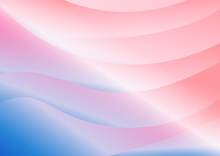 Abstract  Modern Blue Tone Color And Pink Curve Overlap Background. Minimal Concept.