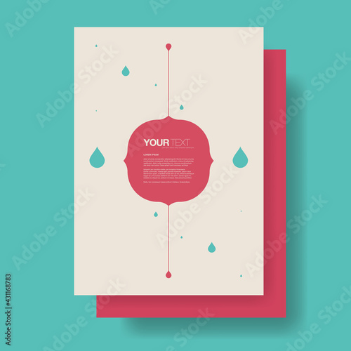 Abstract artistic flyer design with raindrops and sample text   Eps 10 stock vec Fototapeta