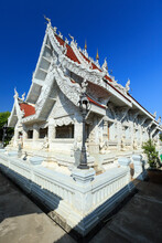 White Temple Wat Ming Muang In Nan Province, Thailand