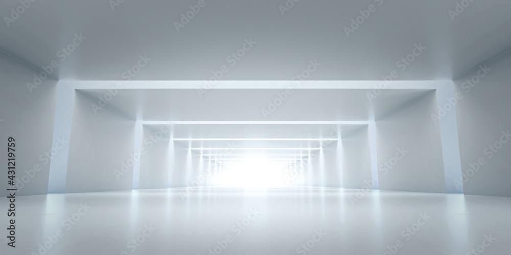 Fotografie, Obraz Abstract Futuristic tunnel