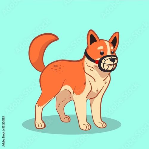 Cartoon Muzzled Animal Illustrated