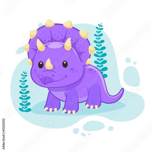 Cartoon Baby Dinosaur Illustrated_2