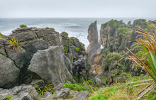 Pancake Rocks In New Zealand