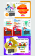 Business concept for internet banners, social media banners, headers of websites, vector illustration