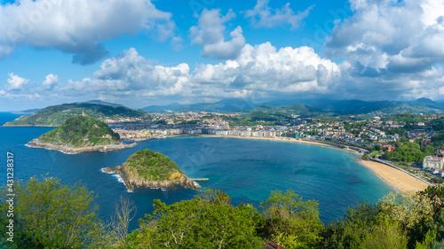 Photo Panoramic view of the city of San Sebastián from Mount Igeldo, Gipuzkoa