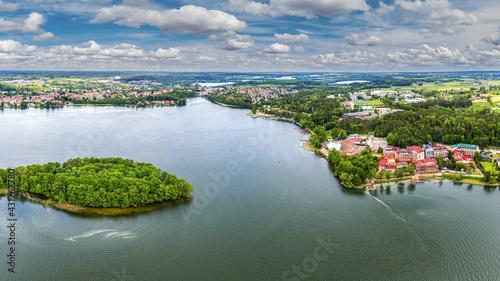 Mrągowo- miasto na Mazurach w północno-wschodniej Polsce - fototapety na wymiar