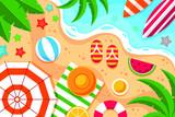 Flat Summer Background Videocalls