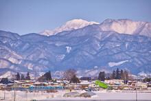 冬の山形。JR左沢線羽前長崎駅