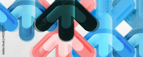 Foto Abstract glossy crosses background for business or technology presentations, int