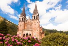 Basilica Of Santa Maria La Real In Covadonga. Asturias. Spain