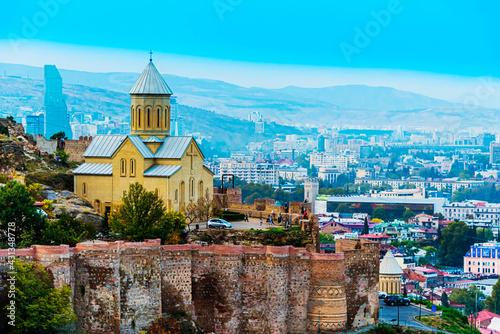 Panoramic view of Tbilisi, Georgia - fototapety na wymiar