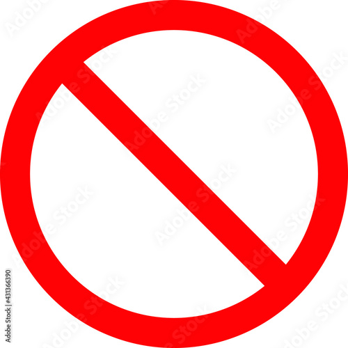 Fototapeta Restricted area symbol