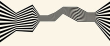 Abstract Background With Zigzag Lines. Stripes Optical Art Illusion.