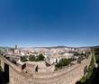 Vista panorámica de la ciudad de Málaga desde su antigua Alcazaba musulmana
