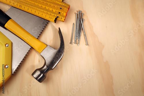 Fototapeta Assorted work tools obraz