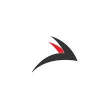 Simple Design Of Swift Bird Logo Icon Template Vector Illustration