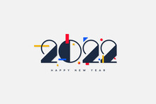 2022 Background With Clean And Elegant Numerical Illustrations.