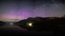 Aurora Borealis Over Ben Lomond And Loch Lomond