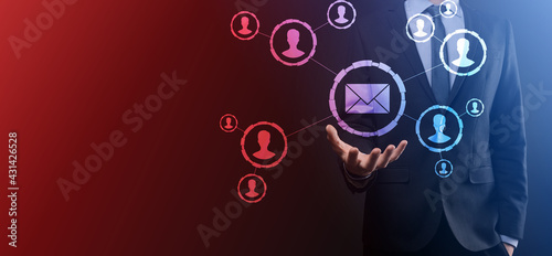 Fotografia Email and user icon,sign,symbol marketing or newsletter concept, diagram