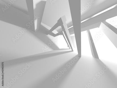 Canvas Print Illuminated corridor interior design