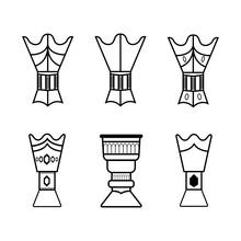 Set Of Islamic Incense Censer Burner - Incense  Arabian  Coal Censer Icons